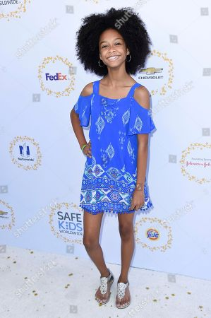 Stock Image of Brianna Reed attends the 2017 Safe Kids Day held at Smashbox Studios, in Culver City, Calif