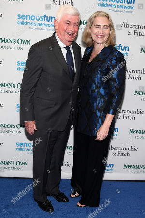 Chris Dodd, left, and Jackie Marie Clegg, right, attend the SeriousFun Children's Network Gala at Pier Sixty, in New York
