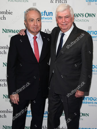 Lorne Michaels, left, and Chris Dodd, right, attend the SeriousFun Children's Network Gala at Pier Sixty, in New York