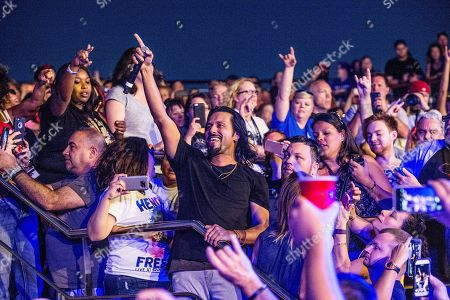 Leigh Kakaty of Pop Evil performs on board the Carnival Victory during day 3 of the ShipRocked cruise on in Miami