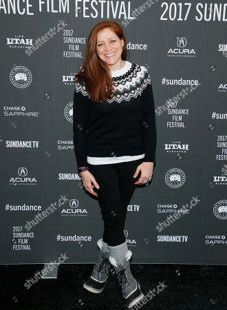 """Actress Augustine Frizzell poses at the premiere of """"A Ghost Story"""" during the 2017 Sundance Film Festival, in Park City, Utah"""