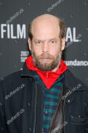 """Stock Image of Actor and singer and songwriter Will Oldham, also known as Bonnie """"Prince"""" Billy, poses at the premiere of """"A Ghost Story"""" during the 2017 Sundance Film Festival, in Park City, Utah"""