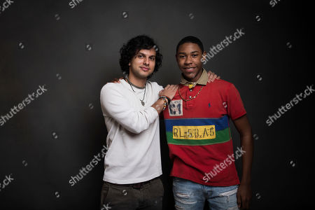 "Director Amman Abbasi, left, and actor Devin Blackmon pose for a portrait to promote the film, ""Dayveon,"" at the Music Lodge during the Sundance Film Festival, in Park City, Utah"