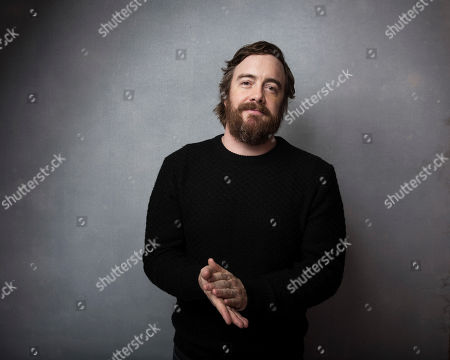 """Director Macon Blair poses for a portrait to promote the film, """"I Don't Feel at Home in This World Anymore,"""" at the Music Lodge during the Sundance Film Festival, in Park City, Utah"""