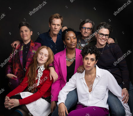 "Series creator Jill Soloway, from top left, actor Kevin Bacon, actor Griffin Dunne, writer Sarah Gubbins, actress India Menuez, from bottom left, actress Lily Mojekwu and actress Roberta Colindrez pose for a portrait to promote the series, ""I Love Dick"", at the Music Lodge during the Sundance Film Festival, in Park City, Utah"