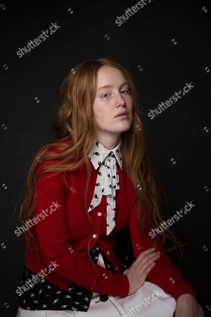 """Actress India Menuez poses for a portrait to promote the series, """"I Love Dick"""", at the Music Lodge during the Sundance Film Festival, in Park City, Utah"""
