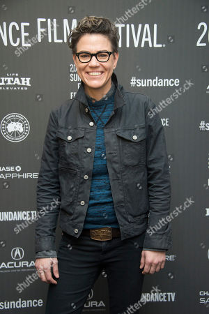 "Sarah Gubbins poses at the premiere of the film ""I Love Dick"" at the MARC Theatre during the 2017 Sundance Film Festival, in Park City, Utah"