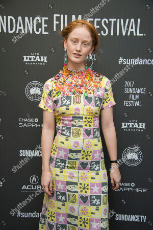 "Actress India Menuez poses at the premiere of the film ""I Love Dick"" at the MARC Theatre during the 2017 Sundance Film Festival, in Park City, Utah"