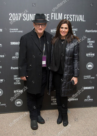 """Producer Uri Singer, left, and Roseli Singer pose at the premiere of the film """"Marjorie Prime"""" at the Eccles Theatre during the 2017 Sundance Film Festival, in Park City, Utah"""