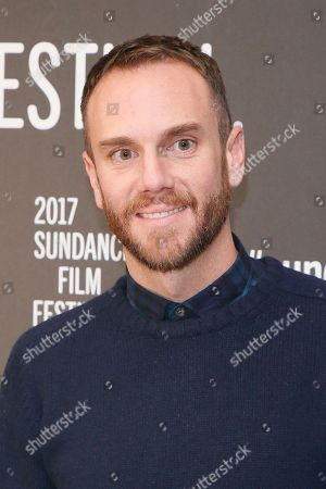 """Director and co-writer Charlie McDowell poses at the premiere of """"The Discovery"""" during the 2017 Sundance Film Festival, in Park City, Utah"""