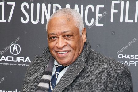 "Actor Ron Canada poses at the premiere of ""The Discovery"" during the 2017 Sundance Film Festival, in Park City, Utah"