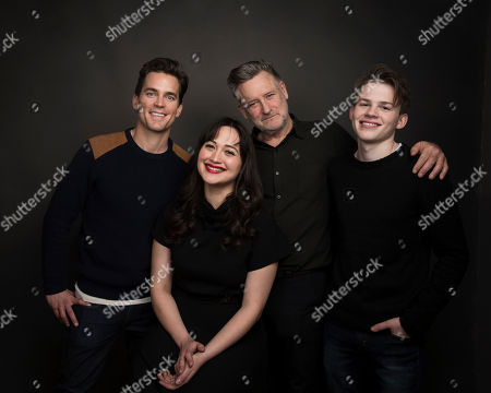 "Actors Matt Bomer, from left, Lily Gladstone, Bill Pullman and Josh Wiggins pose for a portrait to promote the film, ""Walking Out,"" at the Music Lodge during the Sundance Film Festival, in Park City, Utah"