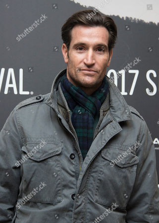 """Actor Matthew Del Negro poses at the premiere of the film """"Wind River"""" at the Eccles Theatre during the 2017 Sundance Film Festival, in Park City, Utah"""