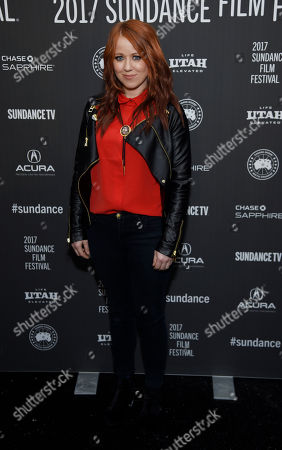 "Roxanne Benjamin, one of the directors of ""XX,"" poses at the premiere of the film at the Library Center Theatre during the 2017 Sundance Film Festival, in Park City, Utah"