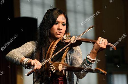 Gingger Shankar performs at the Women at Sundance Brunch during the 2017 Sundance Film Festival, in Park City, Utah