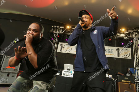 De La Soul's Vincent Mason, left, and David Jude Jolicoeur perform at Rachel Ray's Feedback Party at Stubb's during the South by Southwest Music Festival, in Austin, Texas