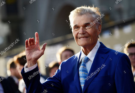 "Actor Fred Willard poses before a 50th anniversary screening of the film ""In the Heat of the Night"" on the opening night of the 2017 TCM Classic Film Festival at the TCL Chinese Theatre, in Los Angeles"