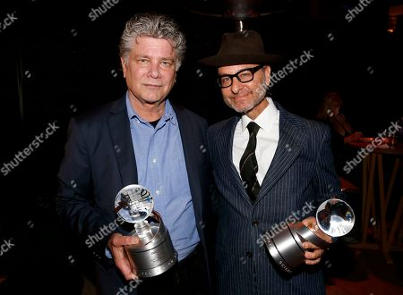 "Steve Zaillian winner of the Television Academy Honors Award for ""The Night Of"", left, and Fisher Stevens, winner of the Television Academy Award for ""Before The Flood"" are seen at the 2017 Television Academy Honors at the Montage Hotel, in Beverly Hills, Calif"