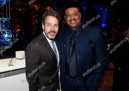 John Ross Bowie, left, and Cedric Yarbrough are seen at the 2017 Television Academy Honors at the Montage Hotel, in Beverly Hills, Calif