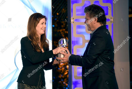 "Dana Delany presents Steve Zaillian with the Television Academy Honors Award for ""The Night Of"" at the 2017 Television Academy Honors at the Montage Hotel, in Beverly Hills, Calif"