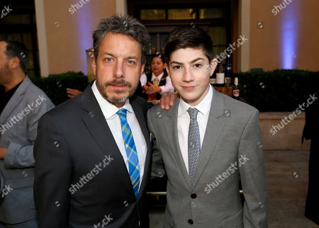 John Ross Bowie, left, and Mason Cook are seen at the 2017 Television Academy Honors at the Montage Hotel, in Beverly Hills, Calif