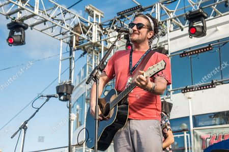 Matt Nathanson perfoms on board the Norwegian Jade during day four of the Rock Boat cruise on in Miami
