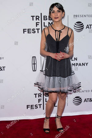 """Sheila Vand attends the """"Aardvark"""" premiere during the 2017 Tribeca Film Festival, in New York"""