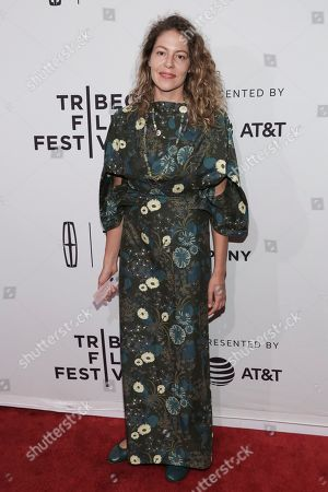 """Artist Lola Schnabel attends a screening of """"House of Z"""" at the SVA Theatre during the 2017 Tribeca Film Festival,, in New York"""
