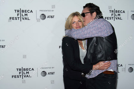 """Stock Image of DeAnna Madsen and Michael Madsen attend the """"Reservoir Dogs"""" 25th anniversary screening during the 2017 Tribeca Film Festival, in New York"""