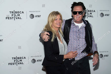 """Stock Photo of DeAnna Madsen and Michael Madsen attend the """"Reservoir Dogs"""" 25th anniversary screening during the 2017 Tribeca Film Festival, in New York"""