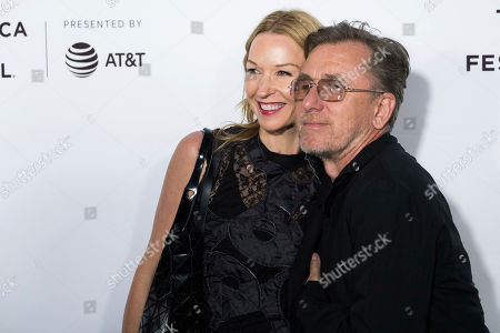 """Nikki Butler and Tim Roth attend the """"Reservoir Dogs"""" 25th anniversary screening during the 2017 Tribeca Film Festival, in New York"""