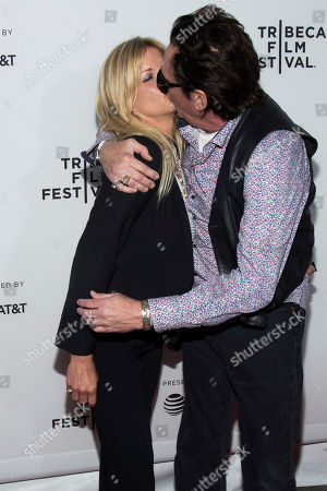 """DeAnna Madsen and Michael Madsen attend the """"Reservoir Dogs"""" 25th anniversary screening during the 2017 Tribeca Film Festival, in New York"""