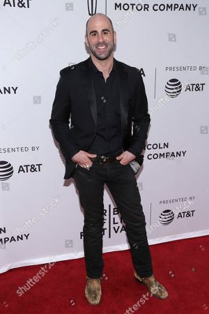 """Actor Greg Vrotsos attends a screening of """"The Clapper"""" at the SVA Theatre during the 2017 Tribeca Film Festival on in New York"""