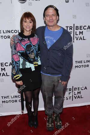 "Director, Writer, Producer Dito Montiel, right, and Guest attend a screening of ""The Clapper"" at the SVA Theatre during the 2017 Tribeca Film Festival on in New York"