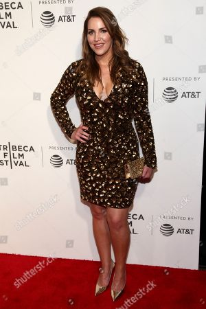 """Sara Chase attends the screening of """"Unbreakable Kimmy Schmidt """", during the 2017 Tribeca Film Festival, at BMCC, in New York"""