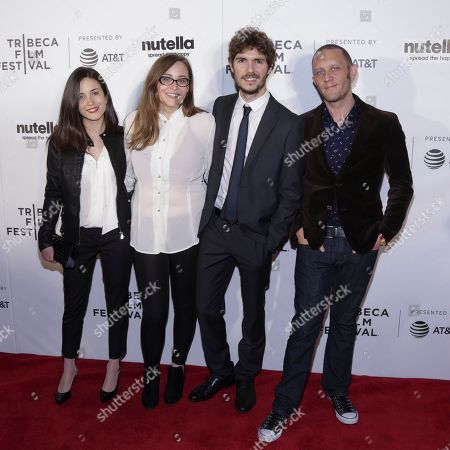 "Stock Picture of Actress Claudia Gusmano, from left, Director Marta Savina, Actor Carlo Calderone and Producer Gregory Rossi attend a screening of ""Viola, Franca"" at Regal Battery Park Stadium 11 during the 2017 Tribeca Film Festival on in New York"