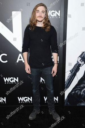 "Kyle Gallner attends a photo call for WGN America's ""Outsiders"" at the CTAM portion of the 2017 Winter Television Critics Association press tour, in Pasadena, Calif"