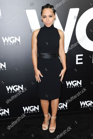 """Stock Picture of Christina Jackson attends a photo call for WGN America's """"Underground"""" at the CTAM portion of the 2017 Winter Television Critics Association press tour, in Pasadena, Calif"""