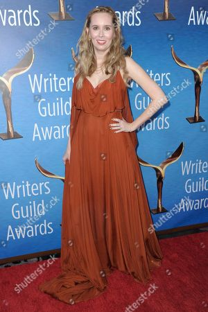 Allison Schroeder attends the 2017 Writers Guild Awards at the Beverly Hilton Hotel on Sunday, Feb.19, 2017, in Beverly Hills, Calif