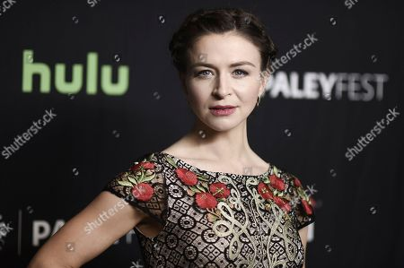 """Caterina Scorsone attends the 34th annual PaleyFest: """"Grey's Anatomy"""" event at the Dolby Theatre, in Los Angeles"""