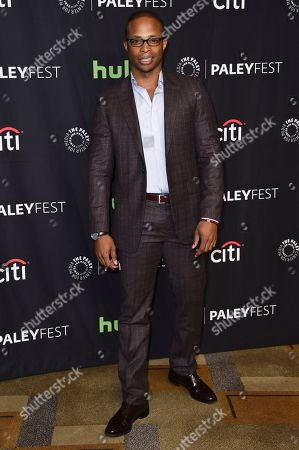 "Cornelius Smith Jr. attends the 34th annual PaleyFest: ""Scandal"" event at the Dolby Theatre, in Los Angeles"