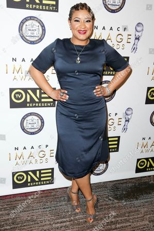 Candace Coles arrives at the 48th NAACP Image Awards Nominees' Luncheon at the Loews Hollywood Hotel, in Los Angeles