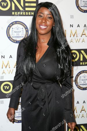 Stock Photo of Natashia Deon arrives at the 48th NAACP Image Awards Nominees' Luncheon at the Loews Hollywood Hotel, in Los Angeles