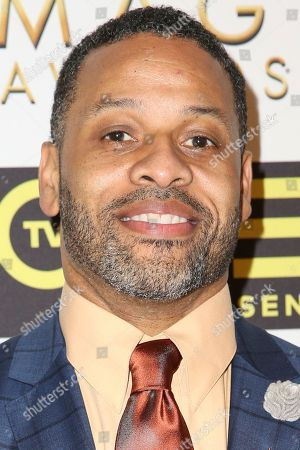 Carl Seaton arrives at the 48th NAACP Image Awards Nominees' Luncheon at the Loews Hollywood Hotel, in Los Angeles