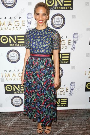 Stock Picture of Marta Cunningham arrives at the 48th NAACP Image Awards Nominees' Luncheon at the Loews Hollywood Hotel, in Los Angeles