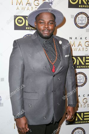 Stock Image of Catfish Jean arrives at the 48th NAACP Image Awards Nominees' Luncheon at the Loews Hollywood Hotel, in Los Angeles