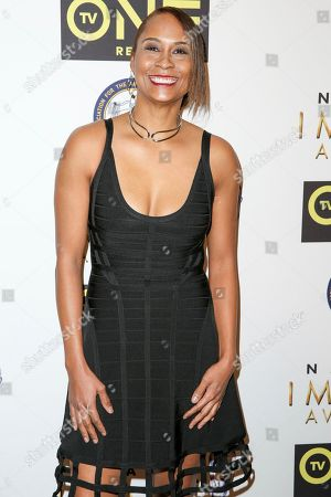 Stock Photo of Akela Cooper arrives at the 48th NAACP Image Awards Nominees' Luncheon at the Loews Hollywood Hotel, in Los Angeles