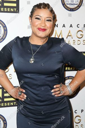 Stock Picture of Candace Coles arrives at the 48th NAACP Image Awards Nominees' Luncheon at the Loews Hollywood Hotel, in Los Angeles