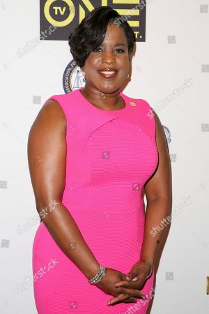 Stock Image of Roslyn M. Brock arrives at the 48th NAACP Image Awards Nominees' Luncheon at the Loews Hollywood Hotel, in Los Angeles