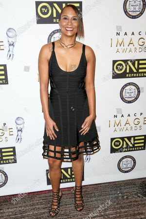 Akela Cooper arrives at the 48th NAACP Image Awards Nominees' Luncheon at the Loews Hollywood Hotel, in Los Angeles